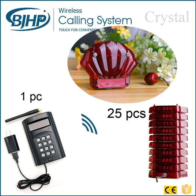 1 teclado 25 sistema de gerenciamento de fila pager coaster 3 carregador sem fio mini dispositivo de chamada pager para restaurante