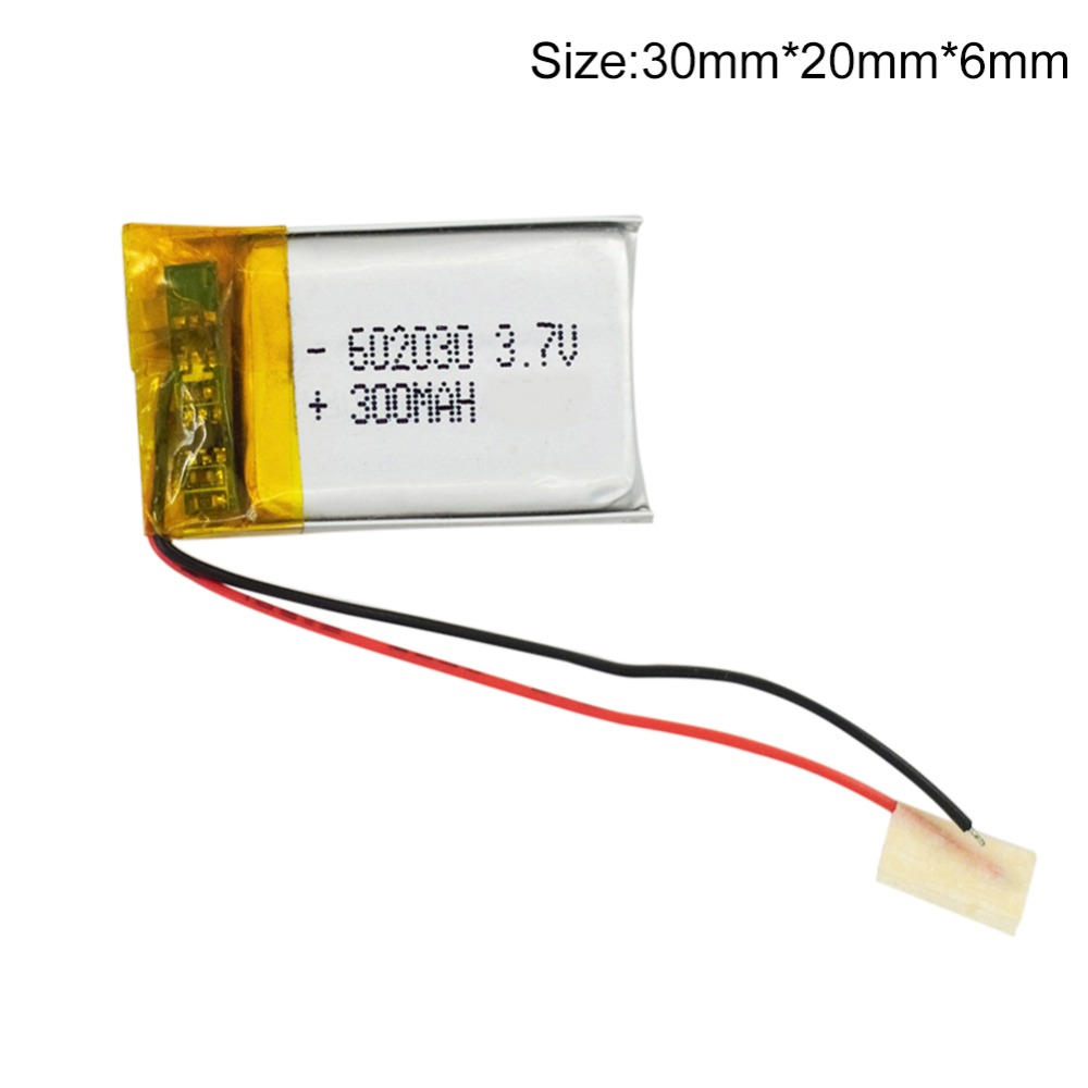 1pc 300mAh 3.7V Li-Polymer Rechargeable Battery for Bluetooth Pen Camera GPS MP3/MP4/MP5 <font><b>602030</b></font> image