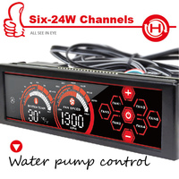 A 100L R Six 24Watt Channel Fan Speed Controller Front Panel 5 25 Touch LED Screen