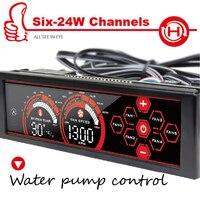 A 100L R Six 24Watt Channel Fan Speed Controller Front Panel 5 25 Touch LED Screen