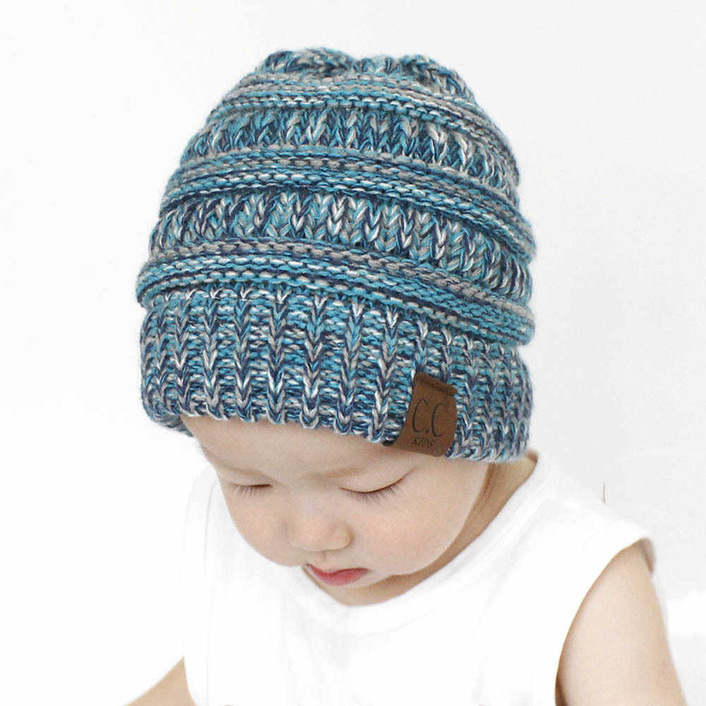197784e9afb ... 2018 baby CC Mixed Winter knitting Hat For Children Warm Cap Girls  Slouchy Beanie Caps Boys ...