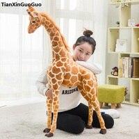 simulation giraffe large 120cm plush toy throw pillow birthday gift s0238