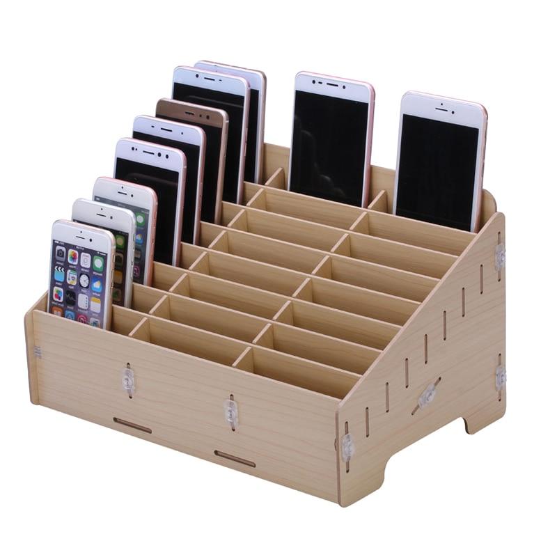 Boîte à outils en bois boîte à outils de réparation de téléphone portable boîte à outils composants électroniques boîte de rangement SMD