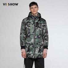 VIISHOW Зима Куртка Мужчины Камуфляж Куртка Пальто С Капюшоном Теплый Бурелом Пальто для Мужчин Мода Одежда MC30164
