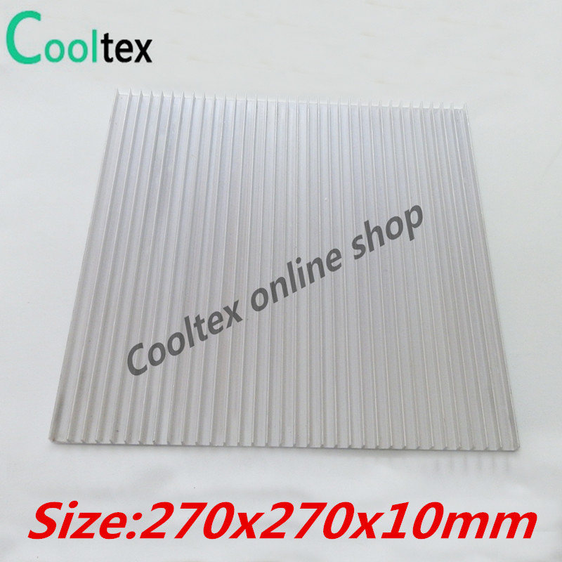 High power 270x270x10mm Aluminum HeatSink Heat Sink radiator for electronic Chip LED COOLER cooling Recommended 10pcs lot ultra small gvoove pure copper pure for ram memory ic chip heat sink 7 7 4mm electronic radiator 3m468mp thermal