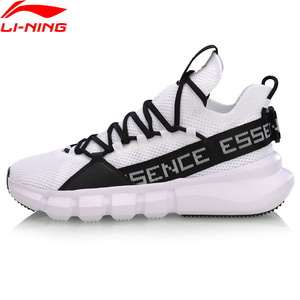 Image 4 - Li Ning Men ESSENCE LACE UP Basketball Leisure Shoes Mono Yarn Meduim Cut LiNing li ning Sport Shoes Sneakers AGBP009 XYL250