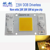 [HY] 50 teile/los warm/kalt weiß/Rot/grün/blau/Full spectrum Energie SavingSuper helligkeit Fahrer 220 V DOB LED Chip aluminium