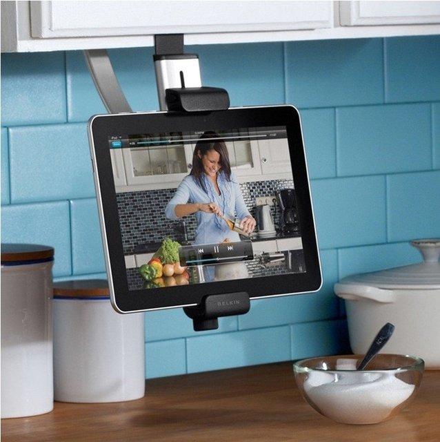 Fanstic 100% genuína cozinha gabinete mount cradle suporte suporte para apple ipad 2 3 tablet pc; frete grátis;