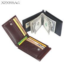XZXBBAG Men Fashion Hasp Short font b Money b font font b Clips b font Three