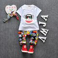 summer style baby boy kid clothing sets cotton t-shirt+pants suit Star Printed Clothes short sleeves sport suits