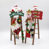 MamimamiHome Baby Toys Christmas Baby Gift Wedding Decor Montessori Toys Blocks Santa Claus Snowman Wooden Blocks