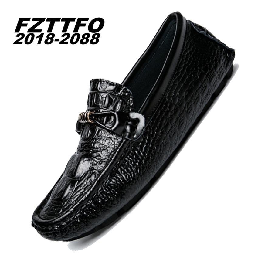 Tamaño 39-44 Hechos A Mano Holgazanes Planos Del Cuero Genuino los Zapatos del B