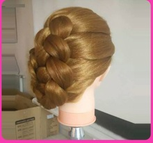 Dummy Blonde Hairdressing Practice Models Hair Mannequin Heads Training Head Hairstyling Cosmetology Wig