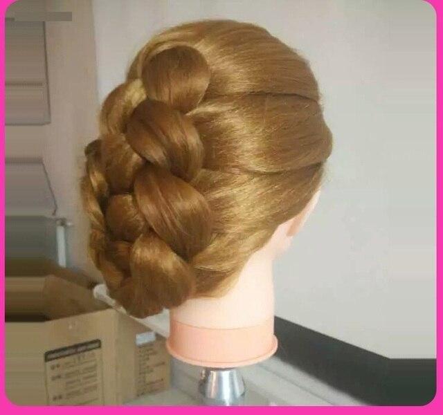 Hair Mannequin Heads Blonde Hairdressing Hair Practice Head Models ...