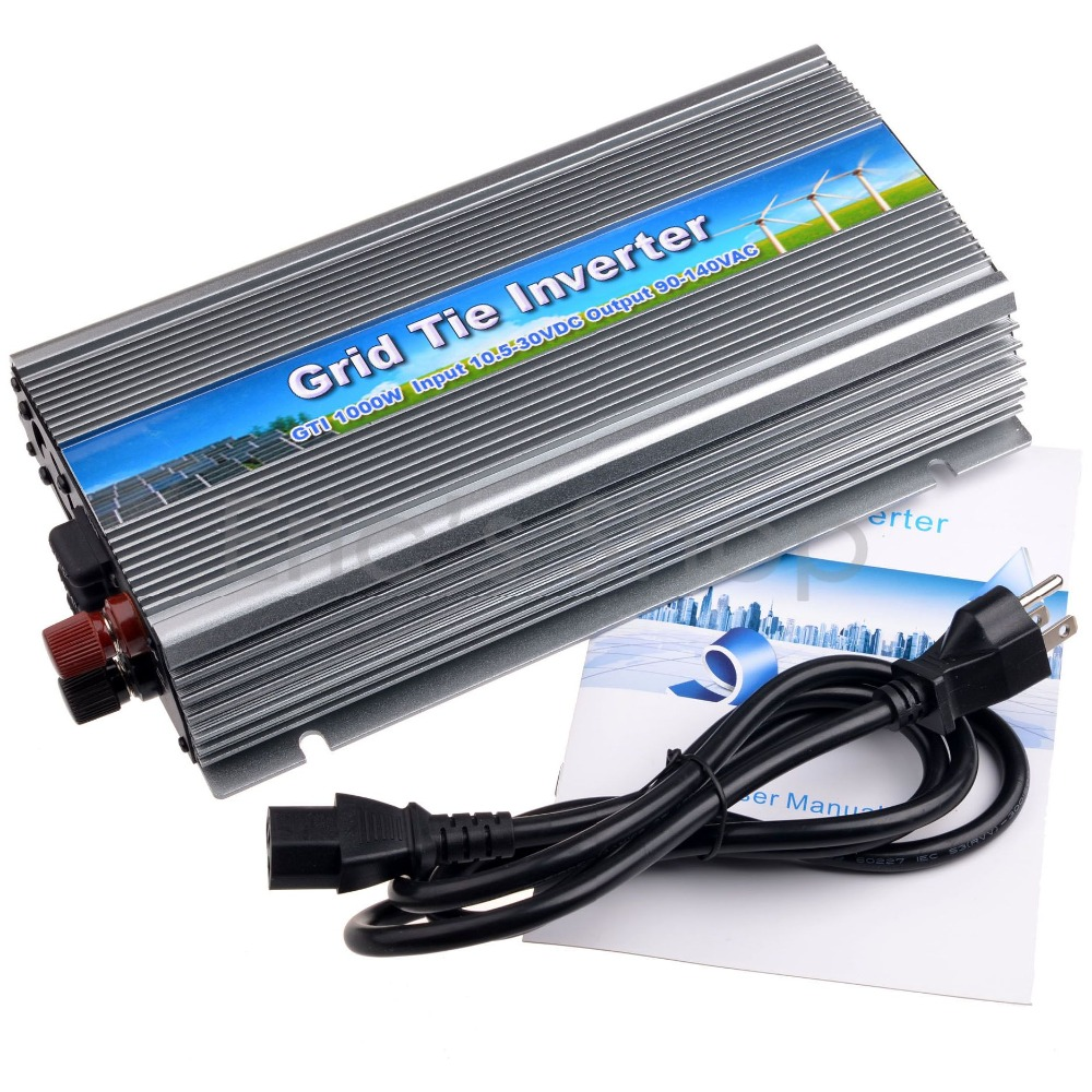 MPPT 1000W Grid Tie Inverter DC10.5-30V to AC110V for 18V/36cells Solar Panel Pure Sine Wave Inverter with MPPT Function mini power on grid tie solar panel inverter with mppt function led output pure sine wave 600w 600watts micro inverter