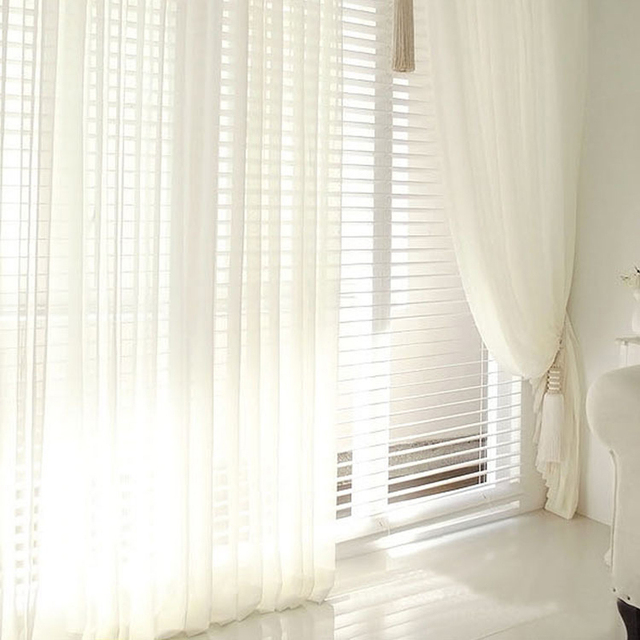 Aliexpress.com : Buy Modern Solid Colors Tulle Window Curtains For ...