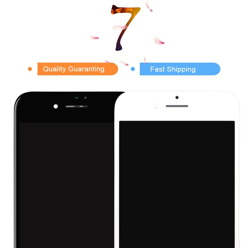 Prix pour 2 pcs pas de dead pixel lcd pour iphone 7 écran lcd avec écran tactile digitizer assemblée, livraison dhl