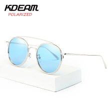 KDEAM Fashion Women Sunglasses Polarized Round Shades Luxury Brand Designer Sun glasses Ocean lens Eyewear 4 Color UV400 KD8086