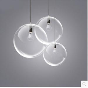 Image 3 - Luminaire suspendu dintérieur à une tête de boule de verre transparent, design moderne, luminaire dintérieur, luminaire décoratif, idéal pour un salon, une salle à manger ou une chambre à coucher, ac 110/220/230V