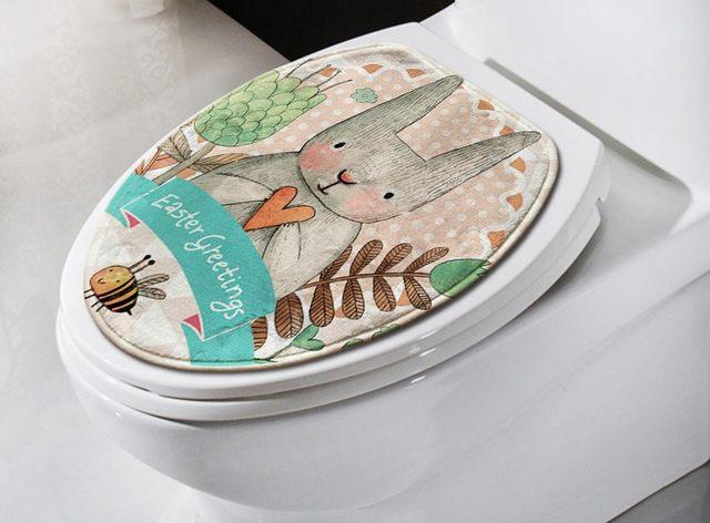 Goedkope Badkamer Matten : Online shop 2 stks set cartoon konijn badkamer tapijt set