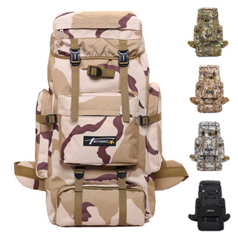 XUANYUFAN 70L tactique extérieur sac d'alpinisme camouflage tactique sac à dos homme super grande capacité voyage sac à dos