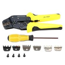 4 In 1 multi tool krimptang Kit Draad Crimper + Screwdiver + end Terminals Techniek Ratchet Terminal Tang voor hand reparatie