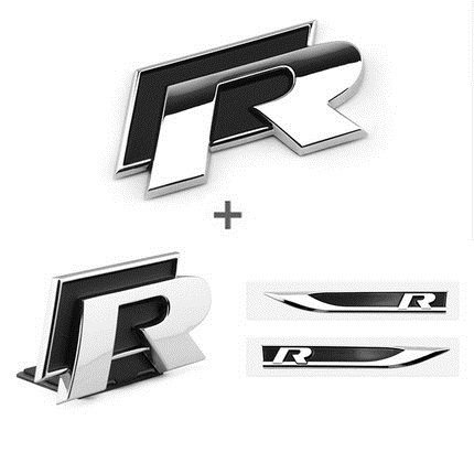 SET of ABS 3D Car Styling Side Wing Badge Emblem Fender R Logo Sticker For Golf 6 7 MK7 MK6 GTI Tiguan Polo CC Jetta