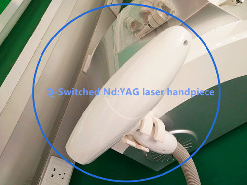 Q-Switched Laser Handpiece for pigment eliminate nd yag laser handle for tattoo removal q switched nd yag laser power main board with simmer