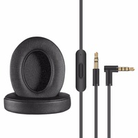 Iseebiz Replacement earpdad for Beats by Dr. Dre Studio 2 Replacement Cable for Beats Studio 2/3 Headphone Earphone Accessories