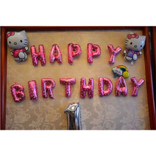 13PCS/SET Foil Balloons Pink Letters HAPPY BIRTHDAY Party Supplies Children Birthday Letter Ballons Decoration favors