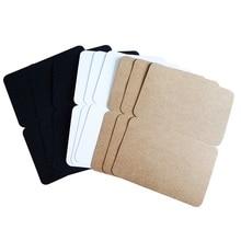10pcs/lot Blank Folding Postcard Three Selection Kraft Paper Greeting Gift Card