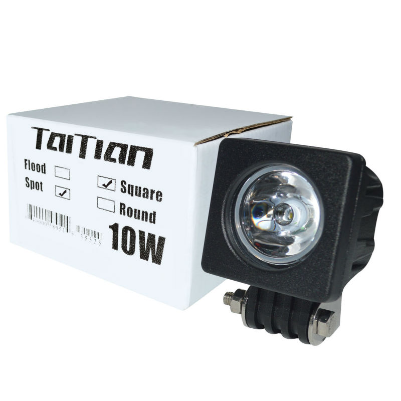 Taitian 10W Square LED Work Light Flood Spot Beam Offroad Driving Fog Lamp Motorcycle 4WD Truck SUV ATV 12V 24V 6000K 2400Lm  -  Store store
