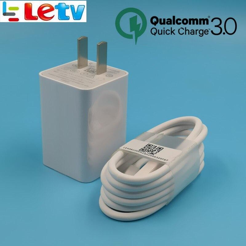 Letv leeco le s3 x626 rápido cargador rápido Letv leeco le Pro 3/max/2/X522/le2 UE/ nos QC 3,0 usb de carga adaptador de pared cable de tipo C