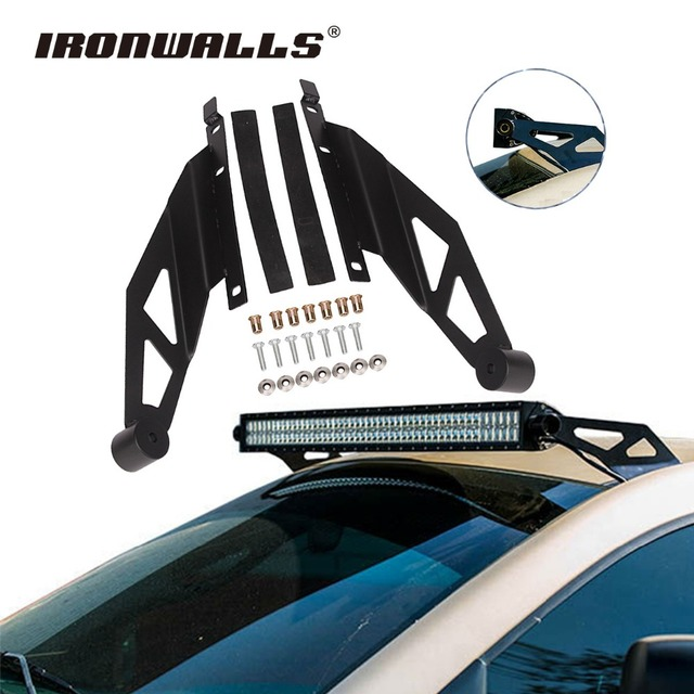 Ironwalls 50 inch straight led light bar mounting brackets upper ironwalls 50 inch straight led light bar mounting brackets upper windshield mounts holder offroad for toyota aloadofball Images