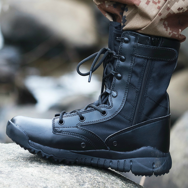 Autumn Ultra Light Men's Tactical Boots Special Forces Military Boots Male Outdoor Waterproof Non-slip Hiking Shoes Travel Shoes