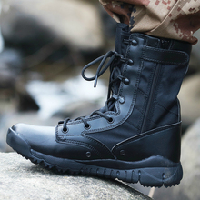 Botas tácticas ultraligeras de otoño para hombre, botas militares de fuerzas especiales para hombre, zapatos de senderismo antideslizantes impermeables para exteriores, zapatos de viaje
