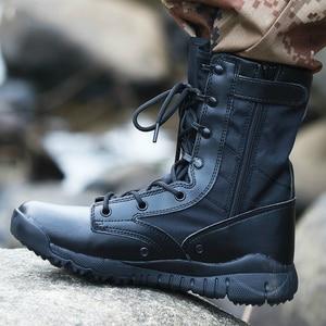 Image 1 - Outono ultra leve botas táticas masculinas forças especiais botas militares masculino ao ar livre à prova dwaterproof água antiderrapante caminhadas sapatos de viagem