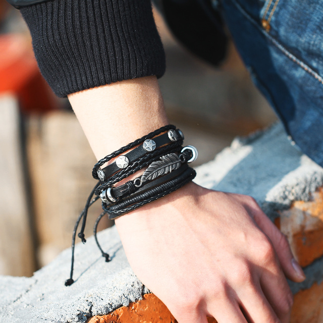 Men's Leather Bracelet  3