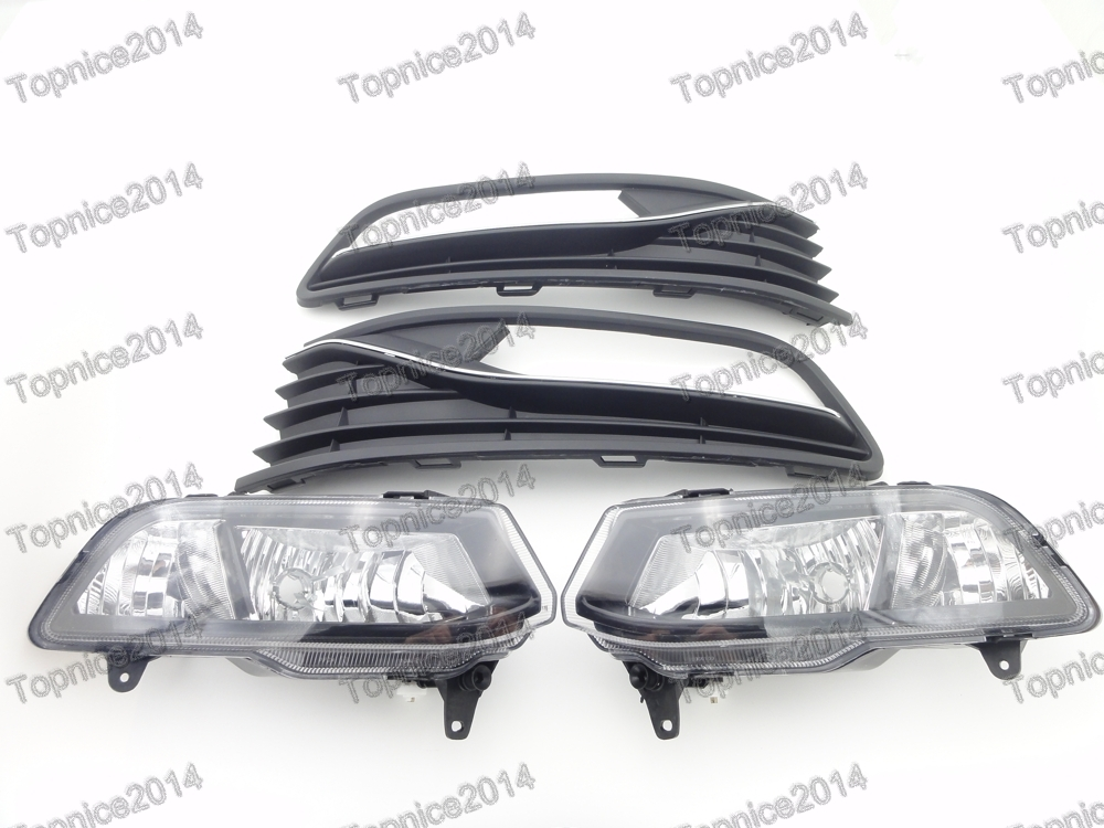 Front Bumper Fog Driving Light Lamps & Covers Kits For Volkswagen Polo 2014-2016 Hatchback