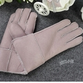 Children autumn sheepskin fur thicken gloves boys winter solid warm glove girls thick leather Points finger mitten
