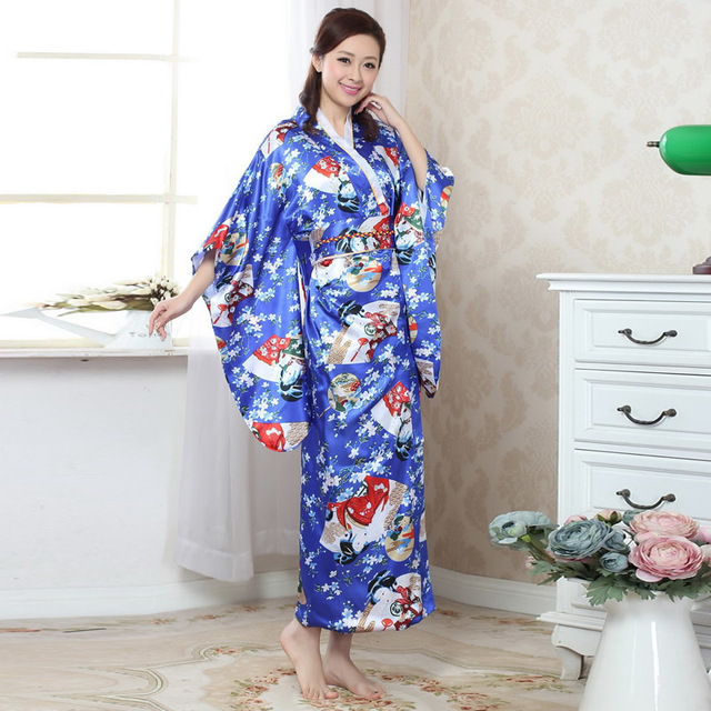 Très Japonais Kimono Traditionnel Geisha Kimono Nation Vêtements  RX67