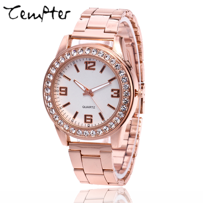 2017 NEW Brand Watch Quartz Ladies Gold Fashion Wrist Watches Diamond Stainless Steel Women Wristwatch Girls Female Clock Hours golden clock gold fashion ladies watch women gold stainless steel quartz watches female wrist watch wholesale chenxi gold watch