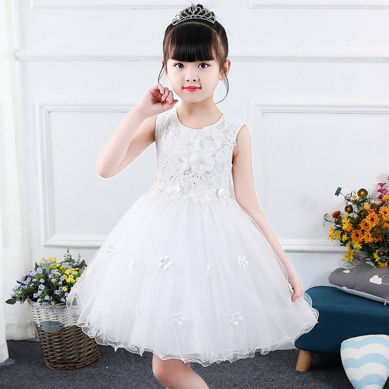 Baby Girls Costume Clothes for Party and Wedding Flower Girl Lace Dresses Summer Children Pageant Princess Dress Kids Girl 2-14Y baby girl summer dress 2018 lace princess dresses sleeveless flower girl dress toddler clothes for party and wedding 2 8y