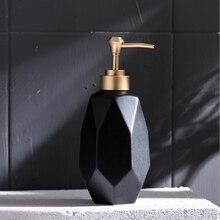 قطعة واحدة من زجاجة مطهرة يدوية إبداعية اسكندنافية زجاجة محلول من السيراميك موزع الصابون مستلزمات الحمامات في الفنادق والنوادي