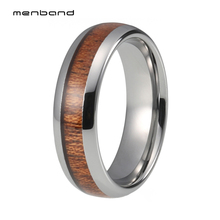 Wood Ring Tungsten Jewelry Wedding Ring For Male And Female Band 6MM ov oriental vibrations ring male female