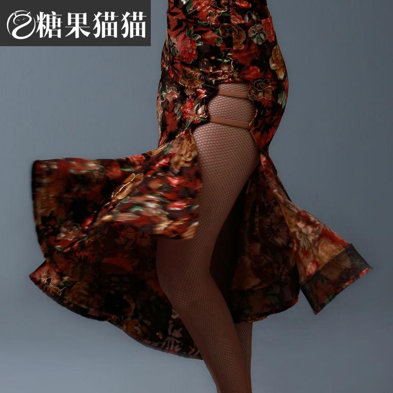 2018 New Arrival Standard Ballroom Dress New Adult Women Ballroom Waltz Tango Latin Dance Skirt Full Rose Very Unique Design