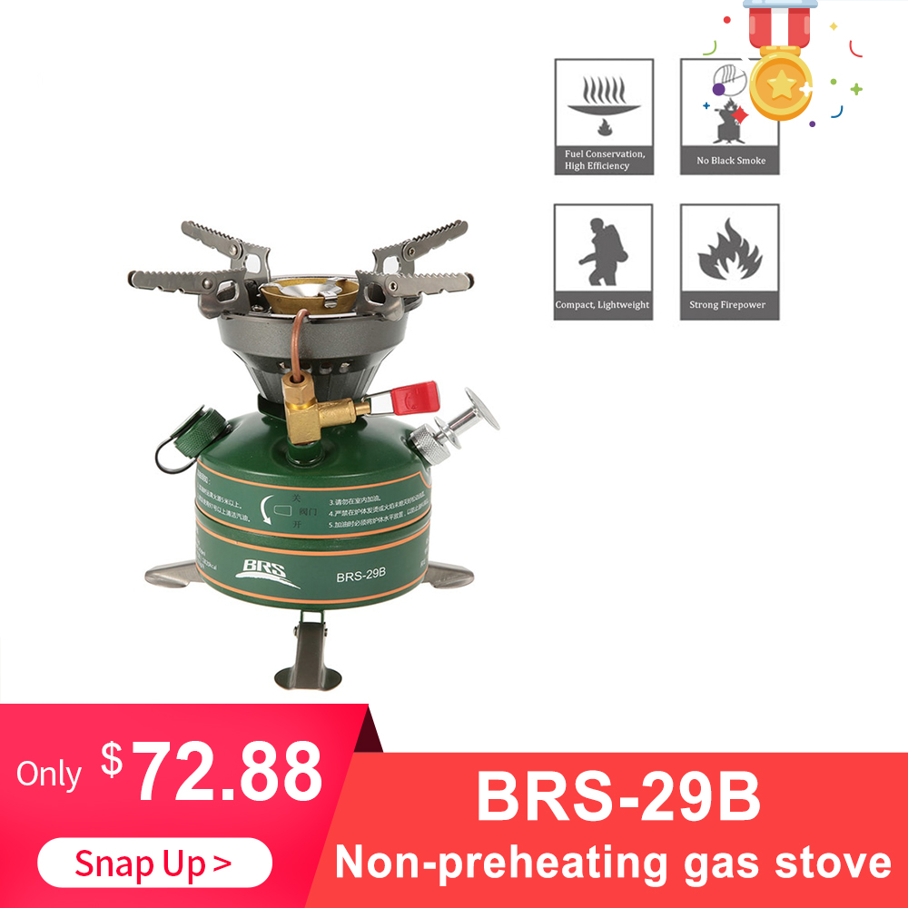 BRS 29B Camping Outdoor Stove Gasoline Stove Simple Oil Stove Non Preheating Fishing Picnic Furnace Boiler