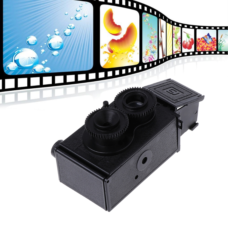 SIV New DIY Dual Lens Reflex Camera Retro Classic TLR 35mm Twins Photo