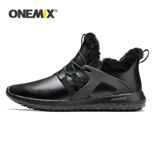 ONEMIX winter autumn shoes for men sneakers for women outdoor jogging sneaker soft outsole leather shoes for outdoor walking