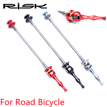 Fighter Ultralight tytanu TI QR rower szosowy zacisk dźwignia rower szosowy jazda na rowerze Hub 100 m-130mm szybkie release tanie i dobre opinie Rowery drogowe 100mm+130mm RISK for road bicycle Titanium axle+aluminum alloy 48 6g pair 100 130mm road bike hub biack red TI